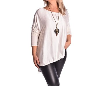 Top Lucy inclusief ketting - Roomwit