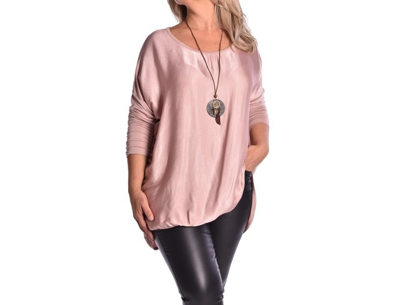 Top Lucy inclusief ketting - Oud Roze