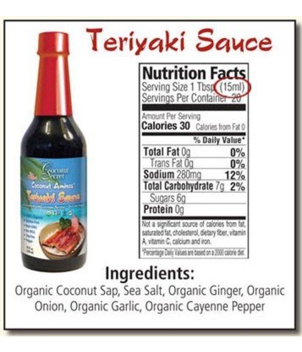 Coconut Secret Coconut Secret - Coconut Aminos, Teriyaki Sauce, 296ml