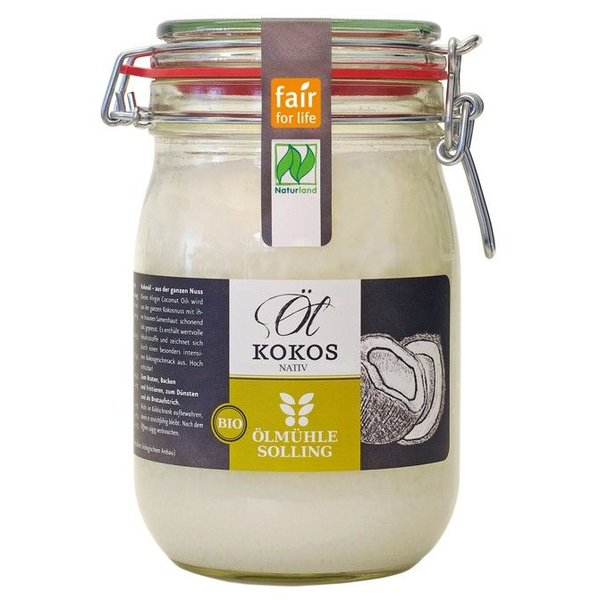 Bio-Kokosöl nativ Naturland fair, 500 ml