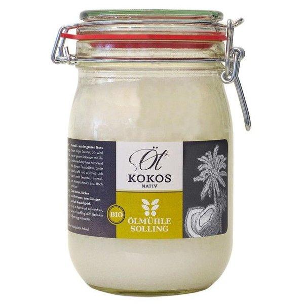 Bio-Kokosöl nativ 1000 ml Bügelglas