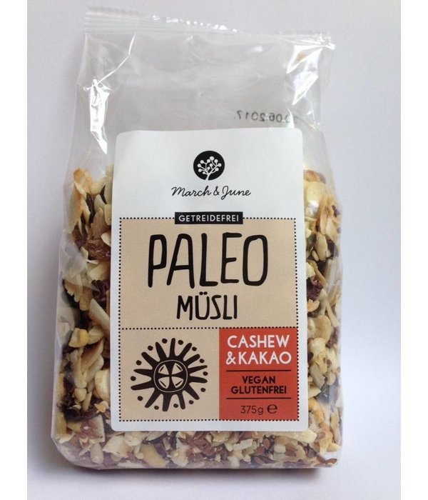 March & June March & June - Paleo Müsli Cashew & Kakaol, 375g