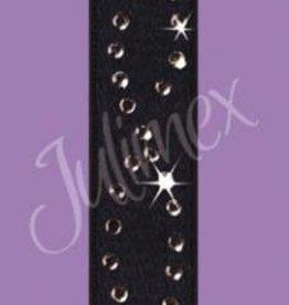 Julimex Zwarte bh bandjes met steentjes