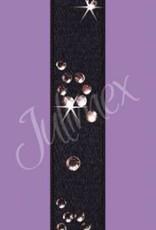 Julimex Zwarte Beha bandjes met steentjes
