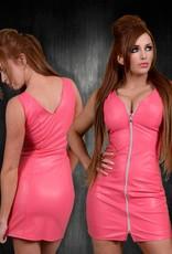 Soleil Pink Leather Dress XXL
