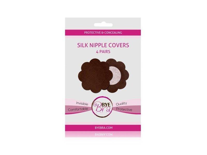 Bye Bra Dark Silk Nipple Covers