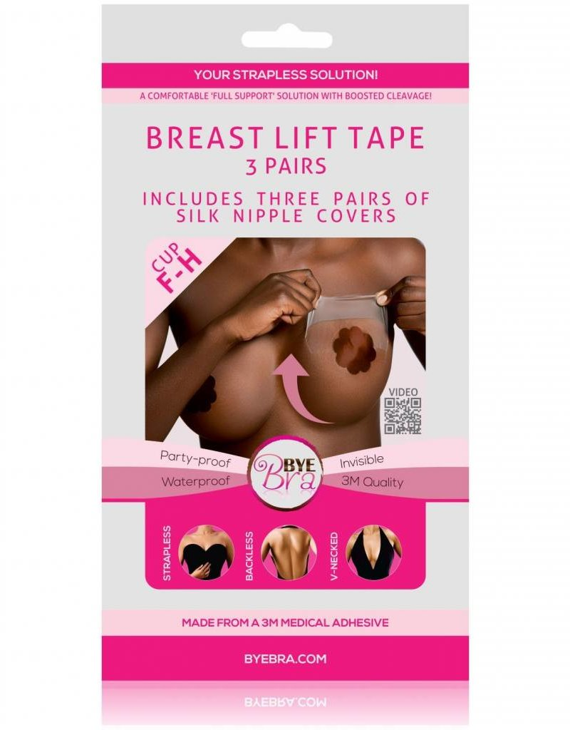 Bye Bra Breast Lift Tape with Dark Silk Covers