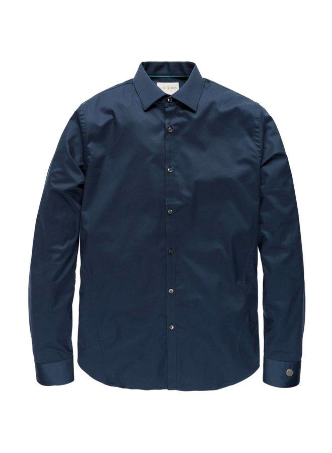 CSI00429 5118 Cast Iron Long Sleeve Shirt Cobra, navy blauw