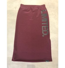 Penn & Ink W17F106LTD 311/90 Penn & Ink NY skirt, rok Bordeaux met print in black