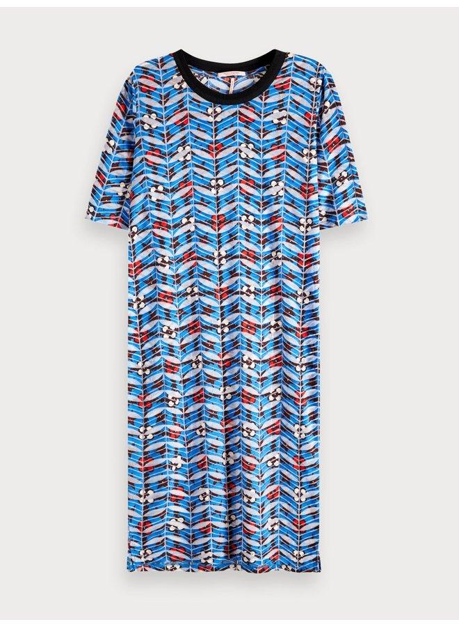149870 18 Scotch & Soda Printed burnout dress Combo B