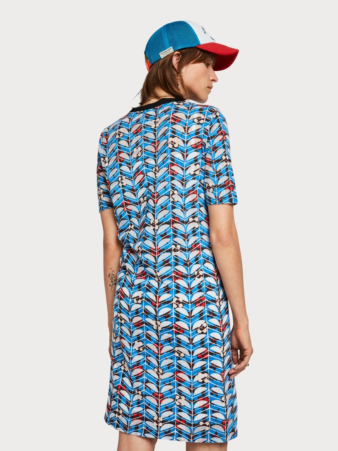 Scotch & Soda 149870 18 Scotch en Soda Printed burnout dress Combo B