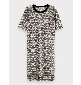 Maison Scotch 149870 99 Maison Scotch Printed burnout dress