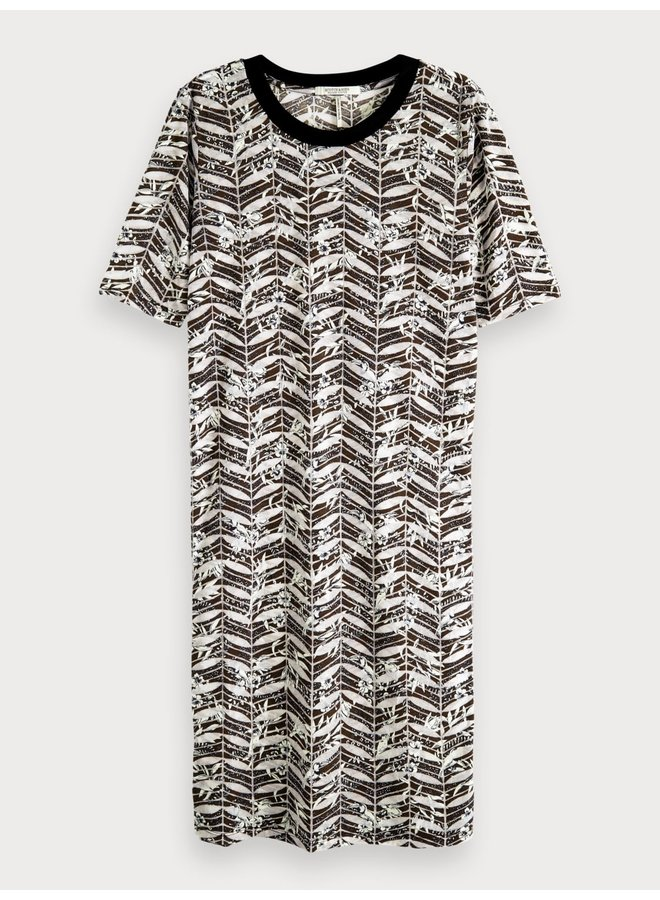 149870 99 Scotch & Soda Printed burnout dress