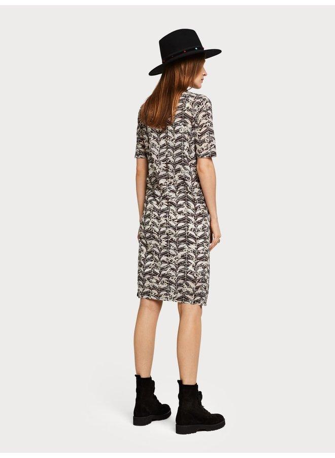 149870 99 Scotch en Soda Printed burnout dress