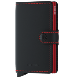 Secrid MM Secrid Miniwallet Matte Black & Red