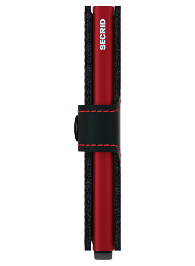 MM Secrid Miniwallet Matte Black & Red