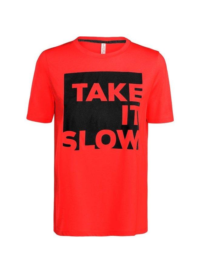 3s4308-30077 355 Summum Short sleeve take it slow Rose red