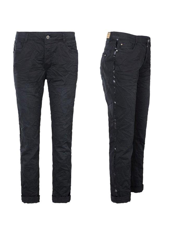 4s1792-10943 990 Summum Broek crispy twill stretch Black