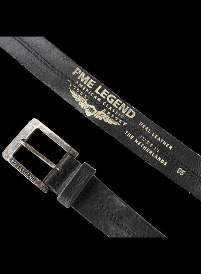 PBE00112 999 PME Legend belt leather center stich Black