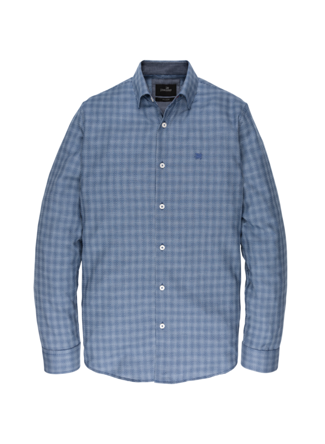 VSI197401 5331 Vanguard long sleeve shirt check Navy Peony