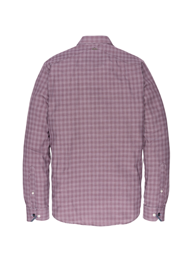 VSI197401 3246 Vanguard long sleeve shirt check Pomegranate