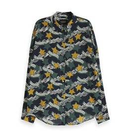 Scotch & Soda 152472 0602 Scotch & Soda Oversized boxy fit cotton viscose shirt in various prints