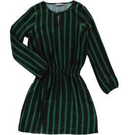 Geisha 97834-20 530 Geisha Jurk stripe elastic waistband green/black combi