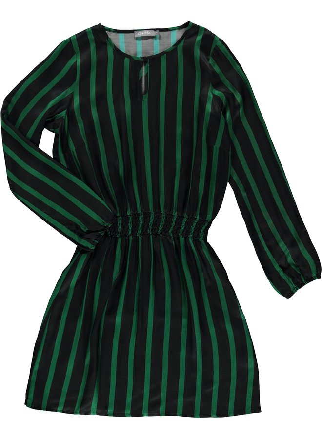 97834-20 530 Geisha Jurk stripe elastic waistband green/black combi