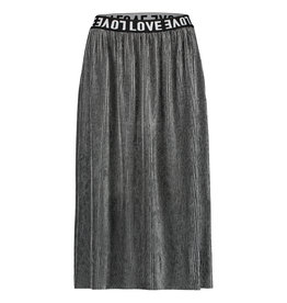 Penn & Ink W19T308LTD 83  Penn & Ink N.Y. skirt plisse grey silver