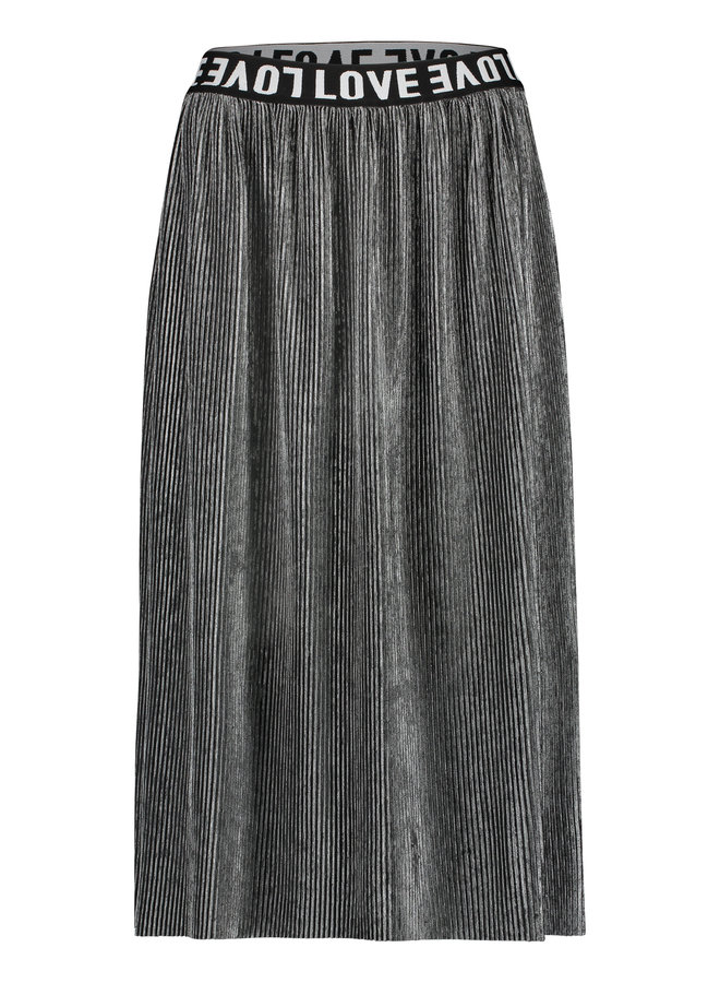 W19T308LTD 83  Penn en Ink N.Y. skirt plisse grey silver