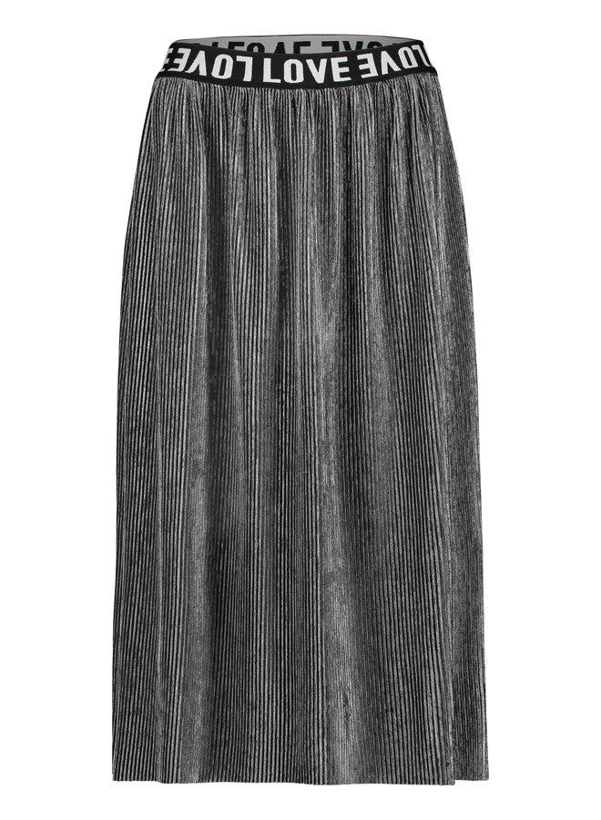 W19T308LTD 83  Penn & Ink N.Y. skirt plisse grey silver