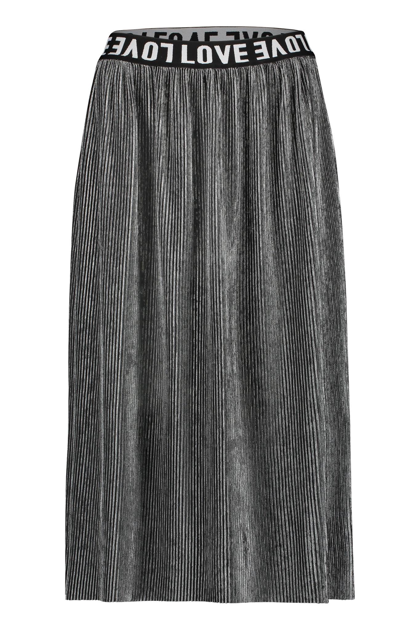 Penn & Ink W19T308LTD 83  Penn en Ink N.Y. skirt plisse grey silver
