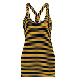 L.O.E.S. 20322 6902 Loes Willow stripe top darkblue/gold