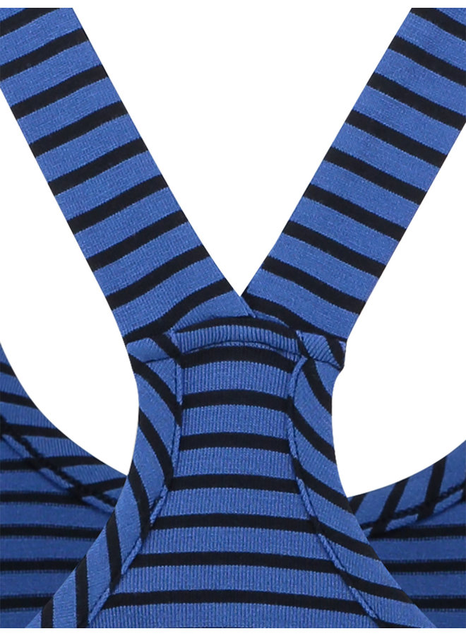 20322 6669 Loes Willow stripe top brblue/dkblue