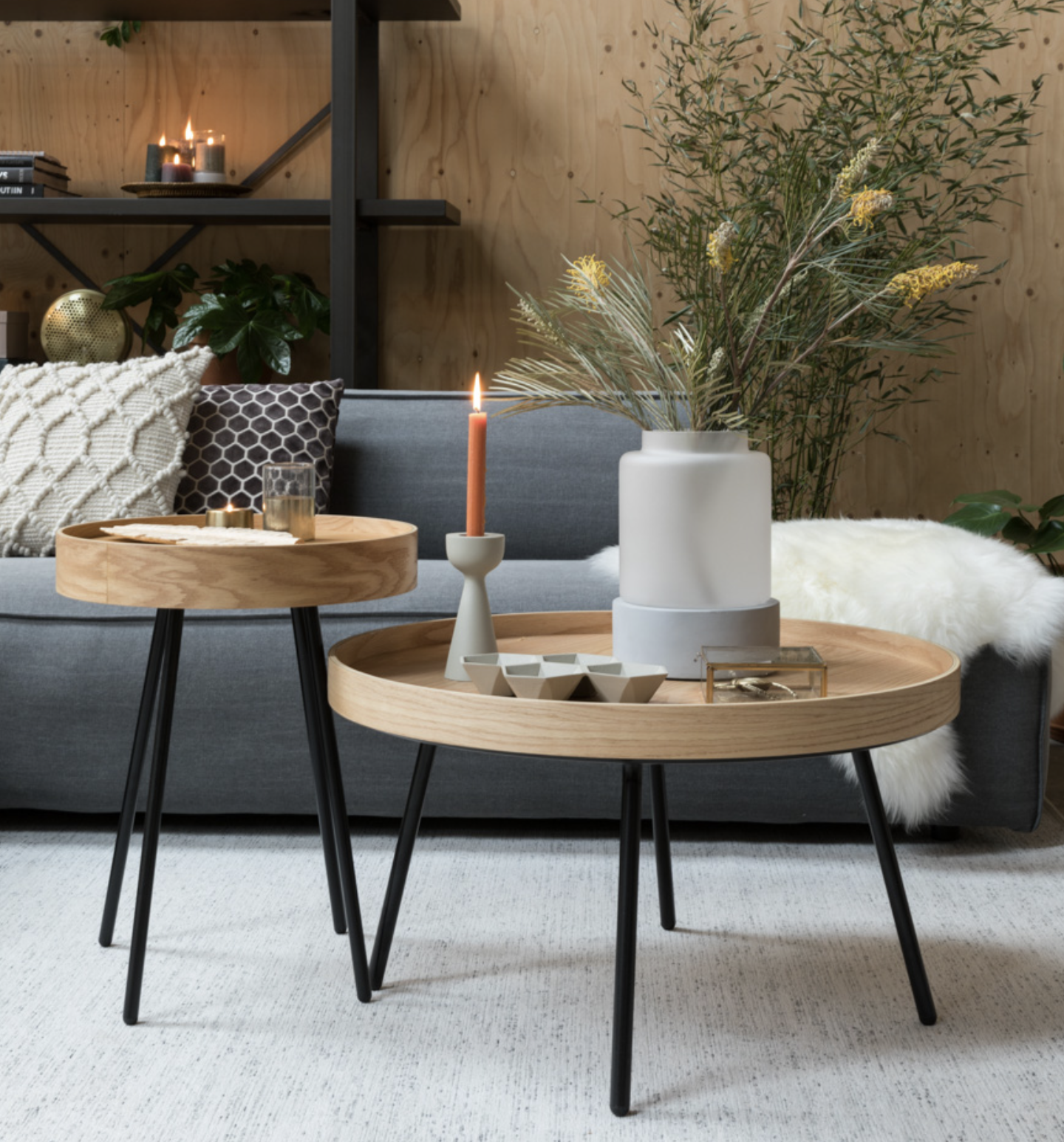 Zuiver Zuiver Coffee Table Oak Tray