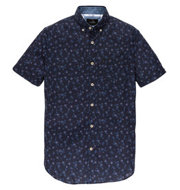 Vanguard VSIS203268 5318 Vanguard Short Sleeve Shirt Print on poplin stretch Maritime Blue