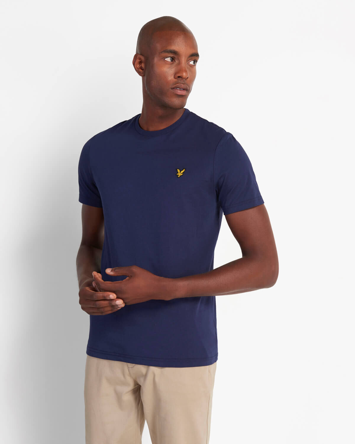 Lyle & Scott TS400V Lyle&Scott Crew Neck T-Shirt, Z99 Navy