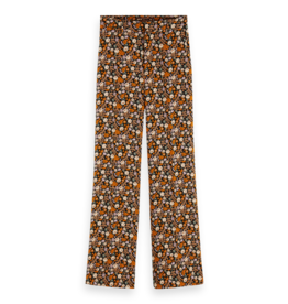 Scotch & Soda 159068 0221 Scotch & Soda 'Edie' Tailored wide leg drapey pants in prints and solids Combo E