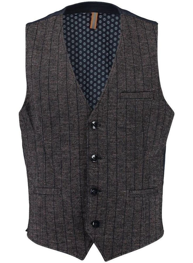 GBIW20-M5 Blue Industry Gilet brown