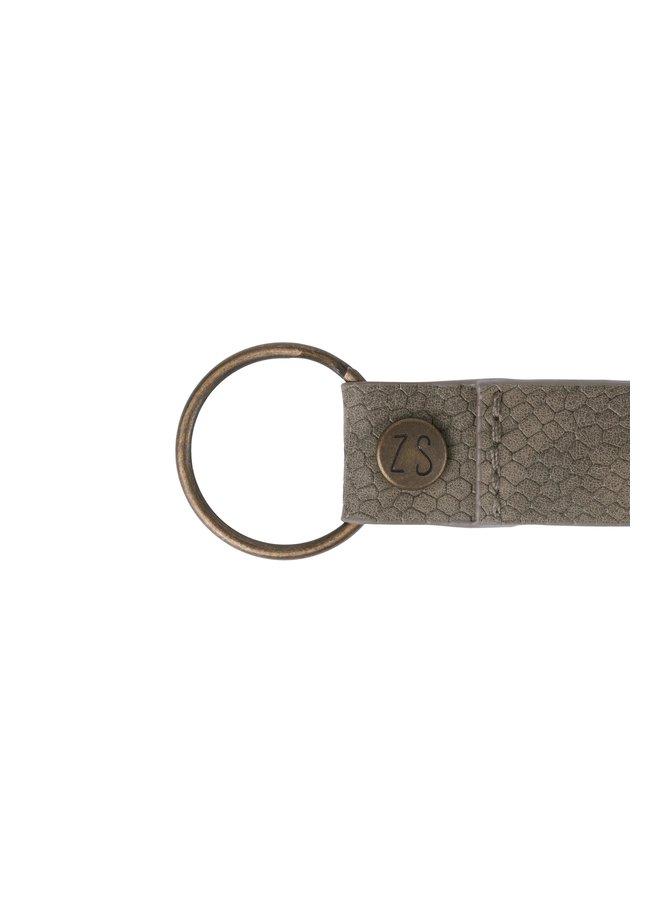 0208-018-4617 Zusss leuke sleutelhanger lieverd snake grijs-groen