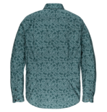 Cast Iron CSI206626 5247 Cast Iron long sleeve shirt print on stretch poplin Green