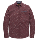 PME Legend PSI206225 4090 PME Legend long sleeve shirt poplin with all-over print Red