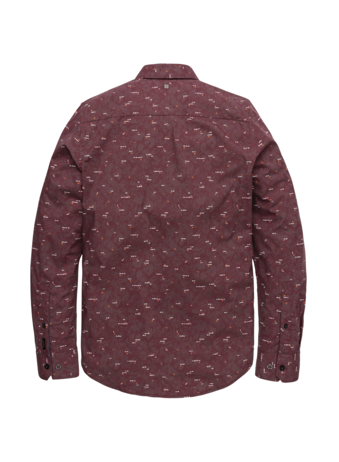 PSI206225 4090 PME Legend long sleeve shirt poplin with all-over print Red