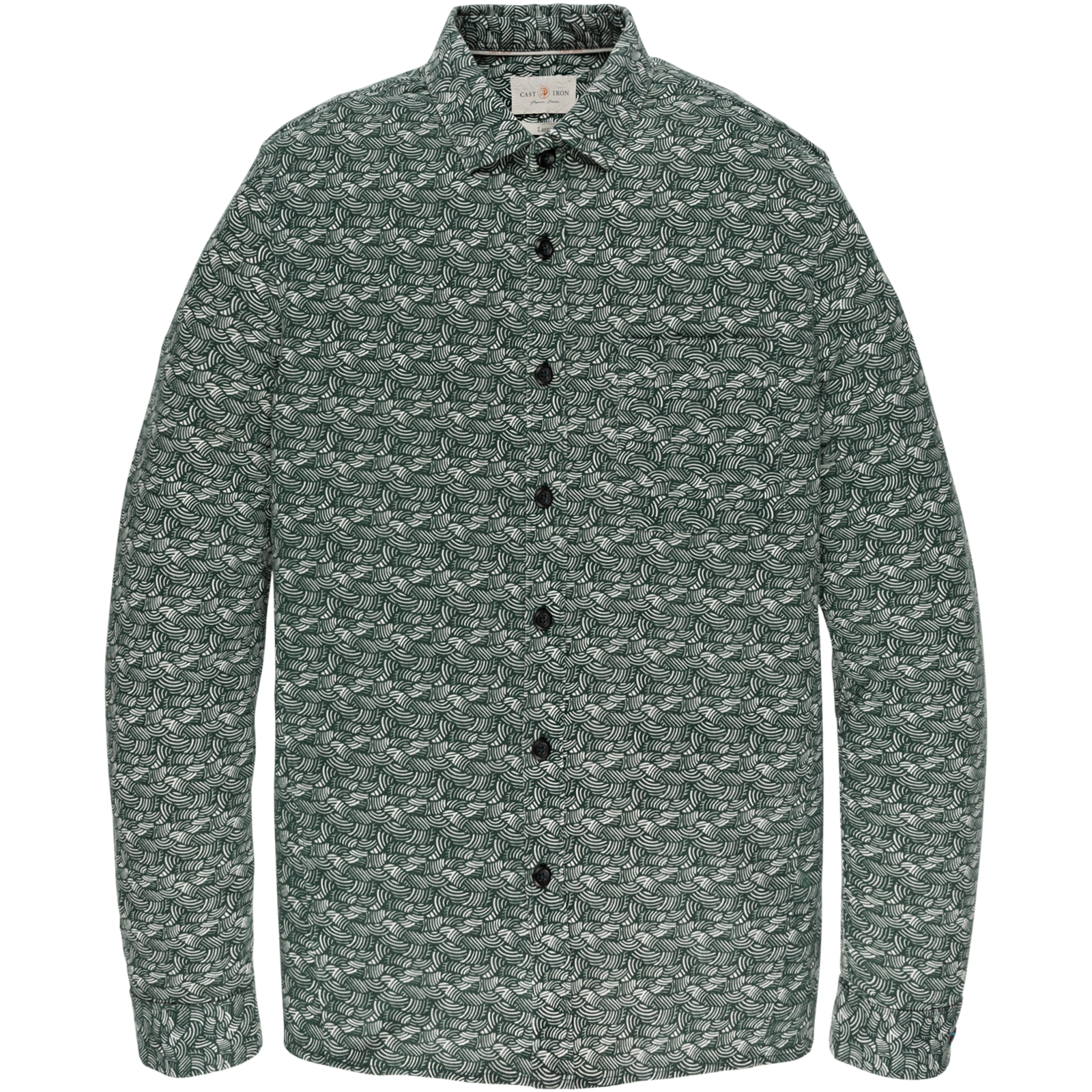 Cast Iron CSI206622 6147 Cast Iron long sleeve shirt jersey printed loopsweat Green