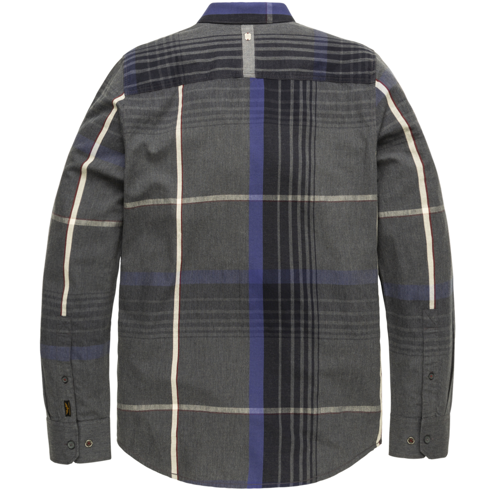 PME Legend PSI206221 5288 PME Legend long sleeve shirt melange check fabric Blue