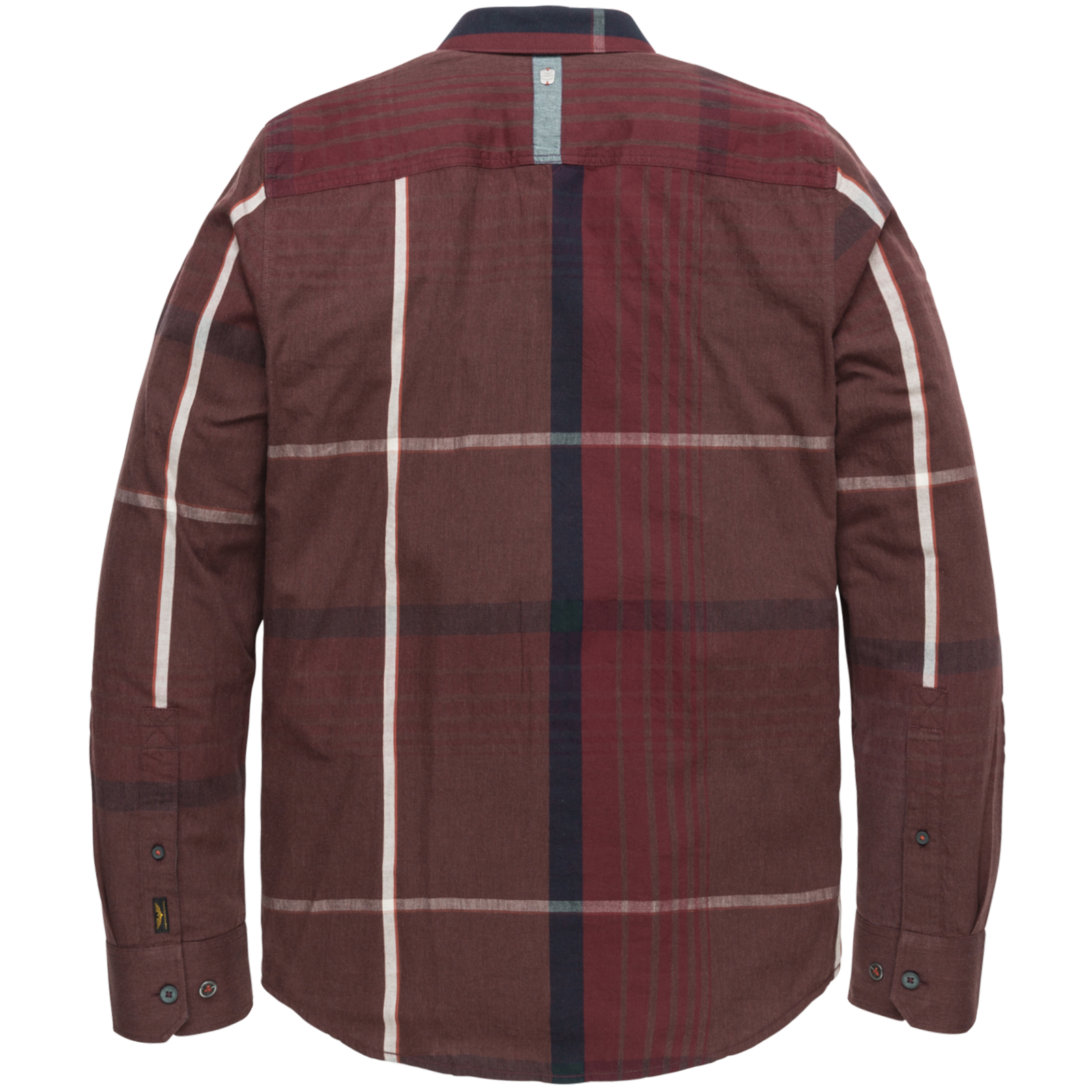 PME Legend PSI206221 4090 PME Legend long sleeve shirt melange check fabric Red