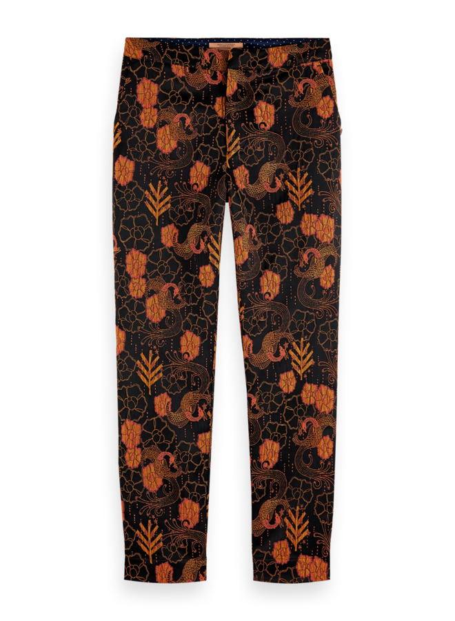159087 0217 Scotch en Soda 'Lowry' Tailored slim fit pant in jacquard Combo A
