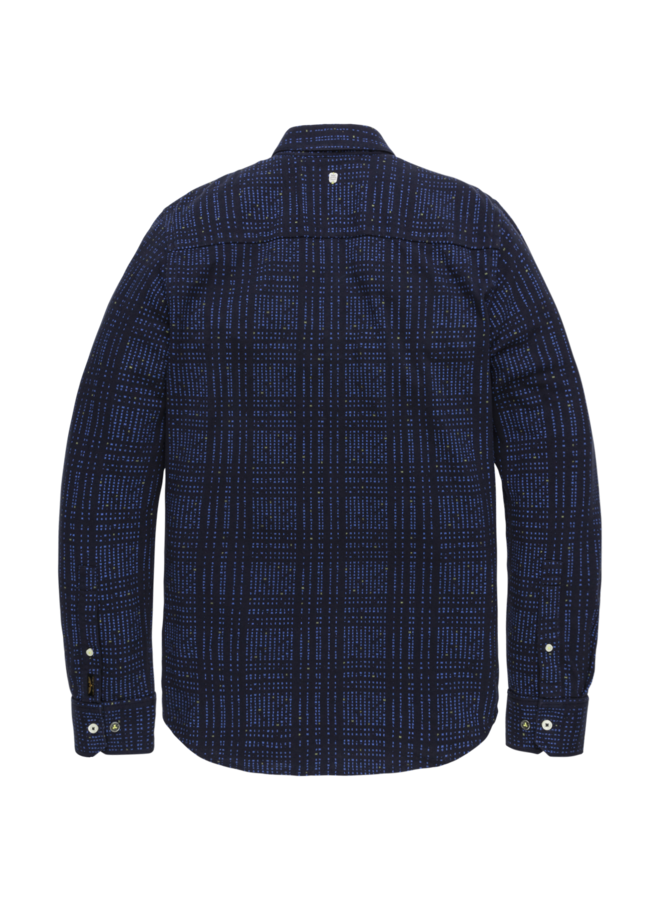 PSI206203 5288 PME Legend long sleeve shirt pique with all-over print Blue