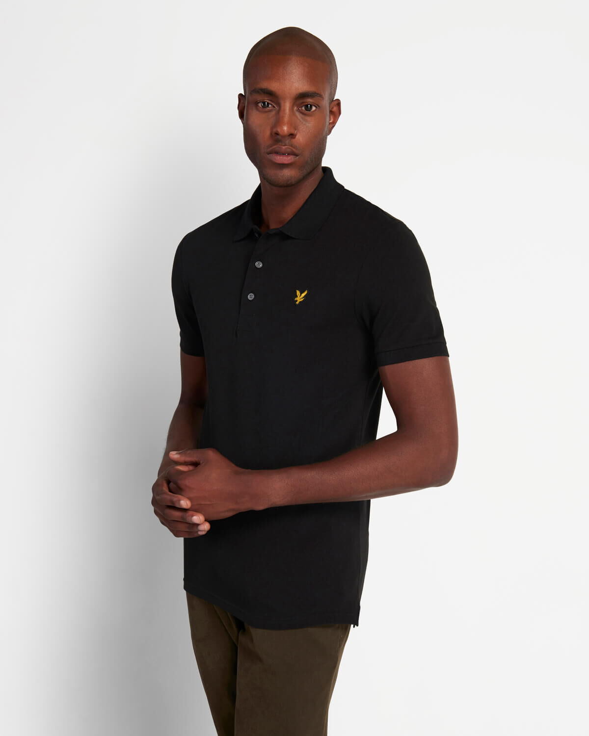 Lyle & Scott SP919V Lyle&Scott Slim Stretch Polo Shirt, Z865 Jet Black