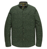 PME Legend PSI207217 6429 PME Legend long sleeve shirt poplin with all-over print Green